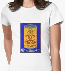Tin Plate Sign - Fry's Breakfast Cocoa Women's Fitted T-Shirt
