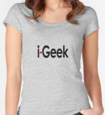 Cool Geek T-Shirt, Fashion Top & Sticker Gift For Fun Women's Fitted Scoop T-Shirt