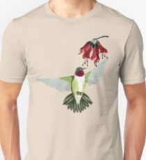 Red Throated Hummingbird Unisex T-Shirt