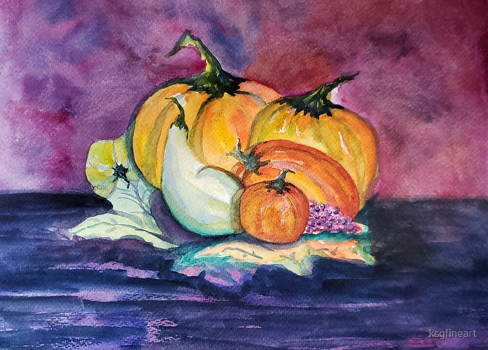 Fall Harvest Pumpkins by ksgfineart