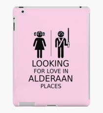 Looking for love in Alderaan places iPad Case/Skin