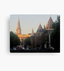Oude Kirk at sunrise Canvas Print