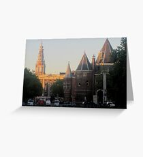 Oude Kirk at sunrise Greeting Card