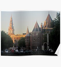 Oude Kirk at sunrise Poster