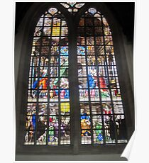 Oude Kirk stained glass Poster