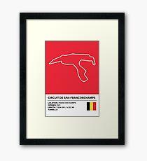 Circuit de Spa-Francorchamps - v2 Framed Print