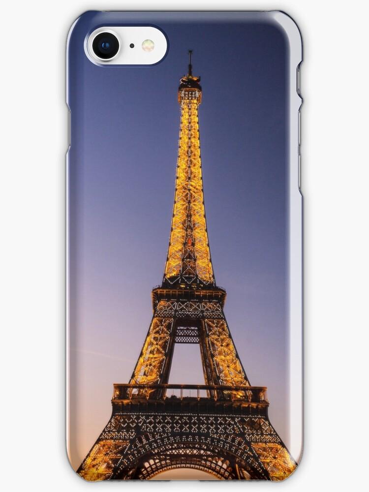 Eiffel Tower and sunset (2) by Mathieu Longvert