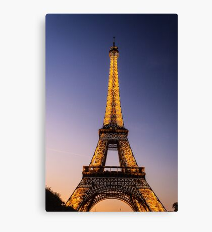 Eiffel Tower and sunset (2) Canvas Print