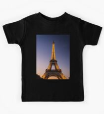 Eiffel Tower and sunset (2) Kids Tee