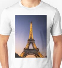 Eiffel Tower and sunset (2) Unisex T-Shirt