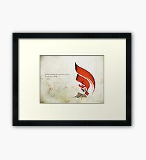 Arabic Calligraphy - Rumi - Lovers Framed Print