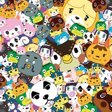 Animal Crossing New Leaf Tsum Tsum Pattern by pirateprincess