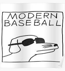 Póster perro moderno de béisbol
