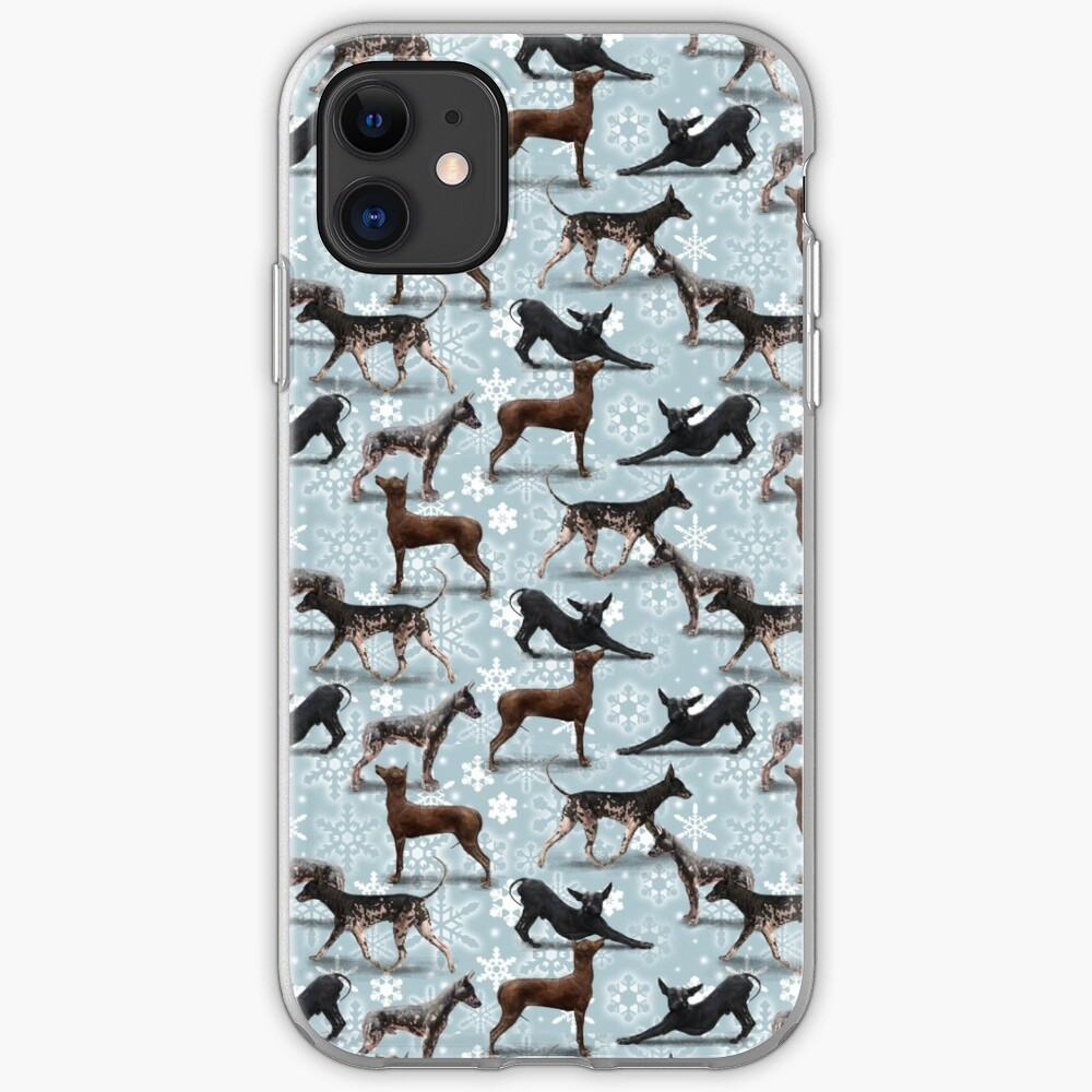 The Christmas Peruvian Hairless Dog iPhone Case & Cover