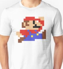 8-Bit Mario Nintendo Jumping Slim Fit T-Shirt