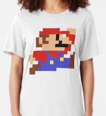 8-Bit Mario Nintendo Jumping Slim Fit T-Shirt