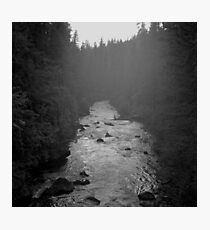Twilight - Rogue River - Oregon Photographic Print