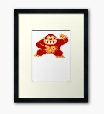 8-Bit Nintendo Donkey Kong Gorilla Framed Print