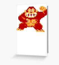 8-Bit Nintendo Donkey Kong Gorilla Greeting Card