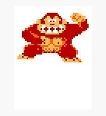 8-Bit Nintendo Donkey Kong Gorilla Photographic Print