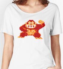 8-Bit Nintendo Donkey Kong Gorilla Women's Relaxed Fit T-Shirt