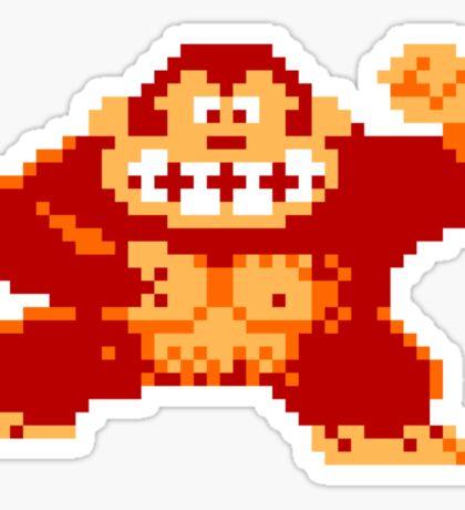 8-Bit Nintendo Donkey Kong Gorilla Sticker