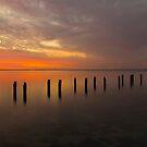 Sunset at the jetty by Akif  Kaynak
