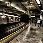 Down in the Tube Station at midnight  by larry flewers