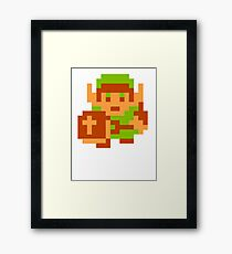 8-Bit Legend Of Zelda Link Nintendo Framed Print