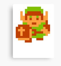 8-Bit Legend Of Zelda Link Nintendo Canvas Print