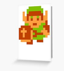 8-Bit Legend Of Zelda Link Nintendo Greeting Card
