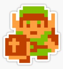 8-Bit Legend Of Zelda Link Nintendo Sticker