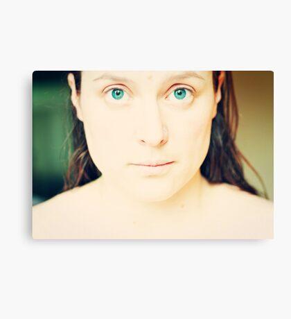 Clean Slate - Self Portrait Canvas Print