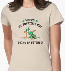 St. Patrick's Day Drink Up Bitches Women's Fitted T-Shirt