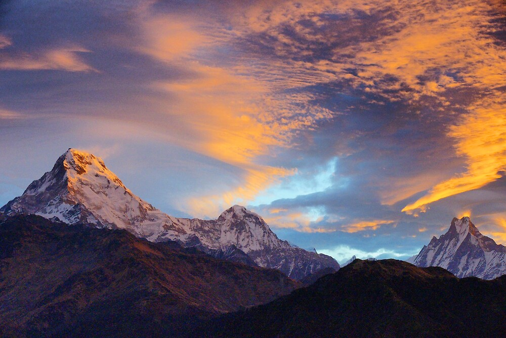 Quot Himalayan Sunrise Quot By Harry Oldmeadow Redbubble