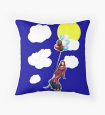 annecy in the sky with balloons Throw Pillow