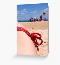 Bikini Beach Greeting Card