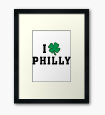 I Love (Shamrock) Philly Framed Print