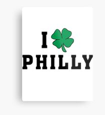 I Love (Shamrock) Philly Metal Print
