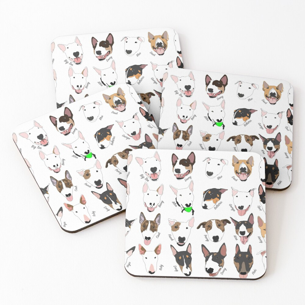 Glasgow Bull Terrier Club Coasters (Set of 4)