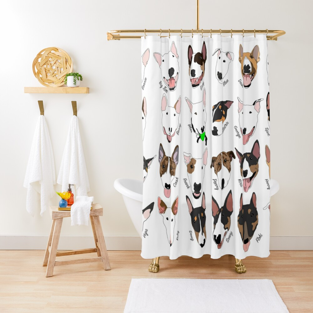 Glasgow Bull Terrier Club Shower Curtain