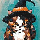 Little Calico Witch Cat by Ryan Conners