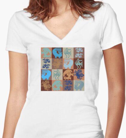 Inca Birds Women's Fitted V-Neck T-Shirt