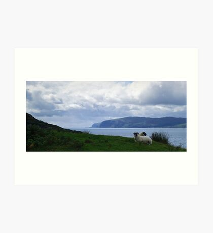 The Firth of Lorn with Sheep Art Print