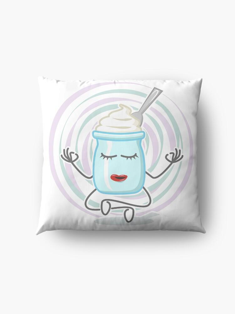 Alternate view of Yogurt Doing Some Yoga Floor Pillow