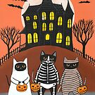 You Go First Trick or Treat Cats by Ryan Conners