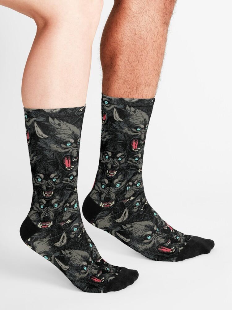 Alternate view of Wolf Pack Pattern Socks