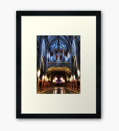 Pipe Organ - St Nicholas Cathedral Framed Print