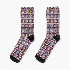 Rick and Morty christmas sweater Socks
