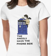 Castiel Has The Phone Box Women's Fitted T-Shirt